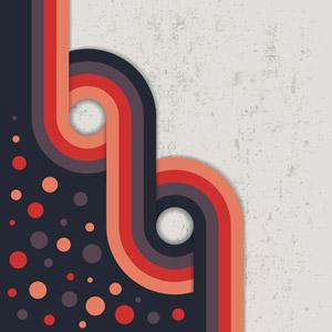 フリーイラスト, ベクター画像, AI, 背景, 抽象イメージ, 曲線, 水玉模様(ドット柄), 汚れ