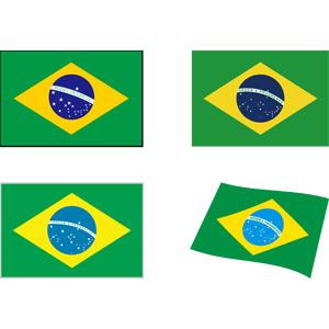 フリーイラスト, ベクター画像, AI, 国旗, 旗(フラッグ), ブラジルの国旗