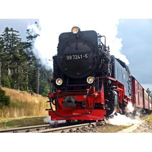 フリー写真, 乗り物, 列車(鉄道車両), 蒸気機関車, ドイツの鉄道車両
