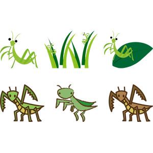 フリーイラスト, ベクター画像, AI, 動物, 昆虫, カマキリ