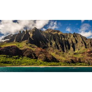 フリー写真, 風景, 自然, 海岸, 崖, アメリカの風景, ハワイ州