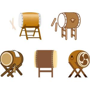 フリーイラスト, ベクター画像, AI, 音楽, 楽器, 打楽器, 太鼓, 和太鼓