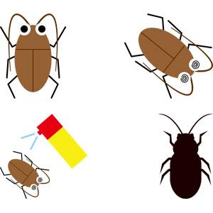 フリーイラスト, ベクター画像, AI, 動物, 昆虫, ゴキブリ