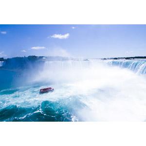 フリー写真, 風景, 滝, ナイアガラの滝, アメリカの風景, カナダの風景, 船