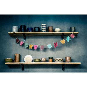 フリー写真, 食器, 湯呑茶碗, マグカップ, フラッグガーランド