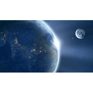 フリーイラスト, 宇宙, 天体, 月, 惑星, 地球