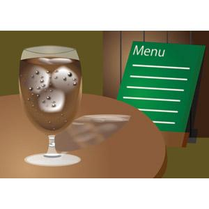 フリーイラスト, ベクター画像, EPS, 背景, 飲み物(飲料), コーヒー(珈琲), アイスコーヒー, 喫茶店(カフェ), 飲食店, メニュー