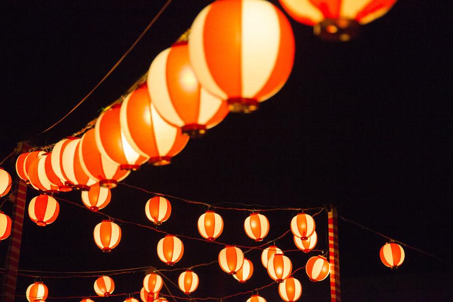 フリー写真 夏祭りの提灯