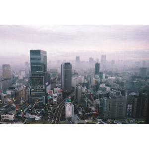 フリー写真, 風景, 建造物, 建築物, 高層ビル, 都市, 街並み(町並み), 霧(霞), 日本の風景, 東京都