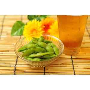 フリー写真, 食べ物(食料), 野菜, 豆(マメ), 枝豆(えだまめ), 飲み物(飲料), お酒, ビール, 夏