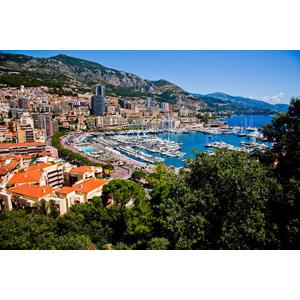 フリー写真, 風景, 建造物, 建築物, 街(町), 街並み(町並み), ヨットハーバー(マリーナ), モナコの風景