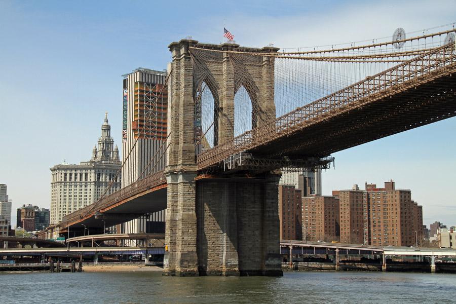フリー写真 ブルックリン橋の風景
