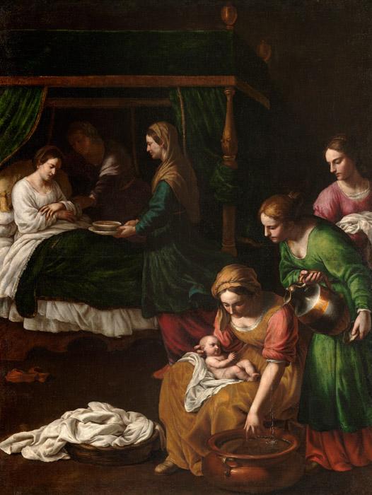 フリー絵画 アレッサンドロ・トゥルキ作「マリアの誕生」