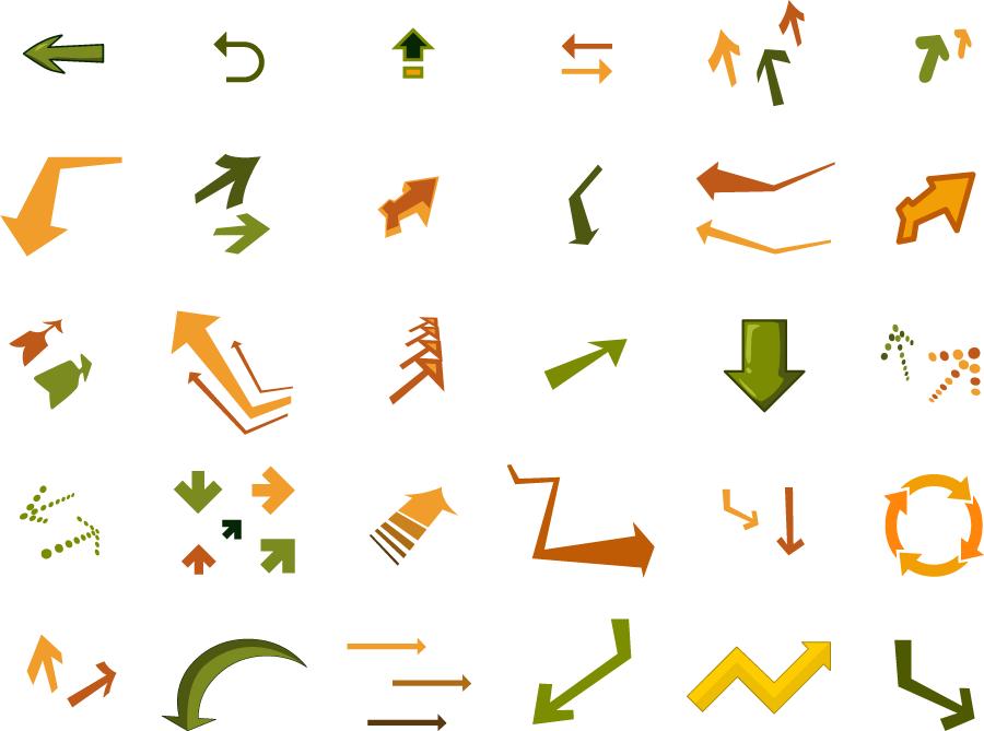 フリーイラスト 30種類の矢印のセット
