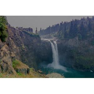フリー写真, 風景, 滝, スノコルミー滝, アメリカの風景, ワシントン州, ツイン・ピークス