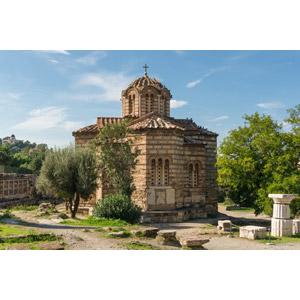 フリー写真, 風景, 建造物, 建築物, 教会(聖堂), 聖使徒聖堂, ギリシャの風景, アテネ