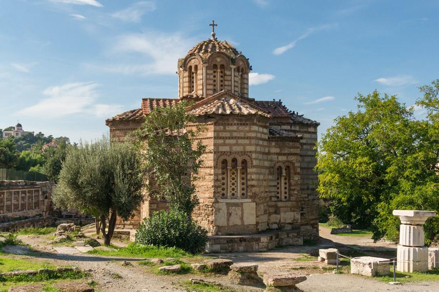 フリー写真 アテネの聖使徒聖堂の風景