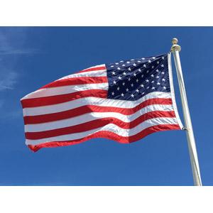 フリー写真, 国旗, 旗(フラッグ), アメリカの国旗(星条旗), 青空