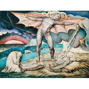 フリー絵画, ウィリアム・ブレイク, 宗教画, 旧約聖書, サタン, ヨブ, 悪魔(デビル)