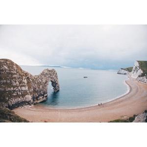 フリー写真, 風景, 自然, ビーチ(砂浜), 海, 天然橋, 世界遺産, イギリスの風景, ジュラシック・コースト, イングランド, ドーセットと東デヴォンの海岸