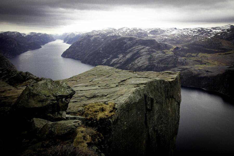 フリー写真 プレーケストーレンの崖の風景