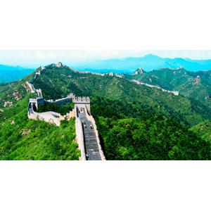 フリー写真, 風景, 建造物, 万里の長城, 山, 世界遺産, 中国の風景, 城壁