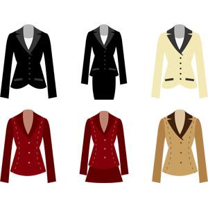 フリーイラスト, ベクター画像, AI, 衣服(衣類), レディースファッション, レディーススーツ, ビジネス, ジャケット