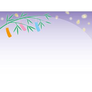 フリーイラスト, ベクター画像, EPS, 年中行事, 七夕, 7月, 笹飾り, 短冊, 星(スター)