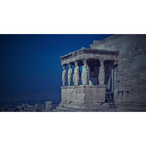 フリー写真, 風景, 建造物, 建築物, 神殿, 彫像, エレクテイオン, アテナイのアクロポリス, 世界遺産, ギリシャの風景