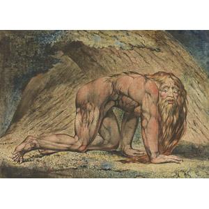 フリー絵画, ウィリアム・ブレイク, 宗教画, 旧約聖書, ネブカドネザル2世