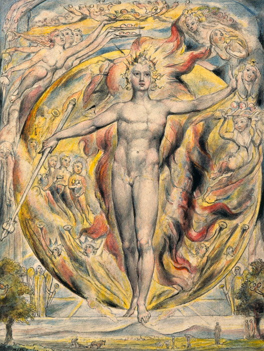 フリー絵画 ウィリアム・ブレイク作「彼の東門の太陽」