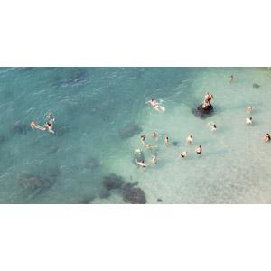 フリー写真, 人と風景, 海, 集団(グループ), 海水浴, レジャー, 夏, イタリアの風景