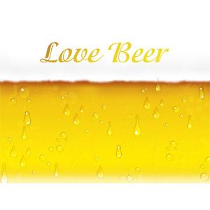フリーイラスト, 背景, 飲み物(飲料), お酒, ビール