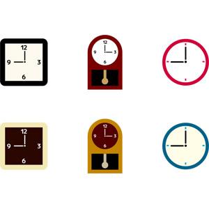 フリーイラスト, ベクター画像, AI, 時計, 掛け時計, 時間, 振り子時計