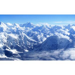フリー写真, 風景, 自然, 山, ヒマラヤ山脈, 雪, 雲