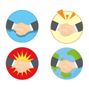 フリーイラスト, ベクター画像, AI, 人体, 手, ビジネス, 握手, ビジネスマン, 仕事, 同意, 商談, 契約, 挨拶