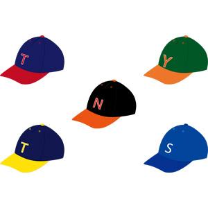フリーイラスト, ベクター画像, AI, 帽子, 野球帽, キャップ帽, 野球(ベースボール), スポーツ, 球技