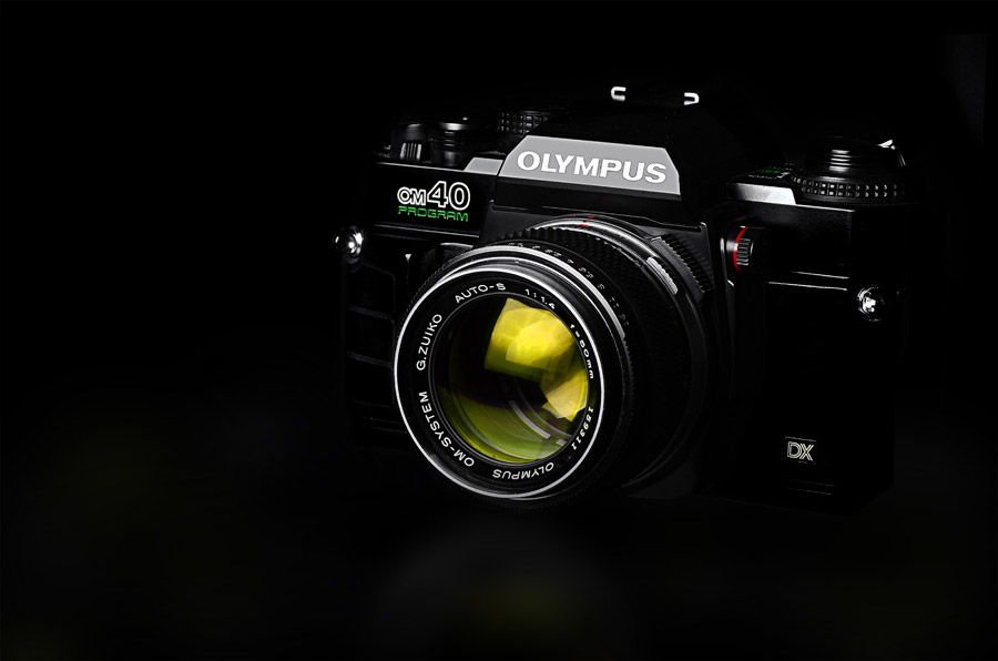 フリー写真 オリンパスのOM40の一眼レフカメラ