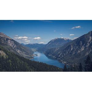 フリー写真, 風景, 自然, 山, 湖, アーヘン湖, オーストリアの風景