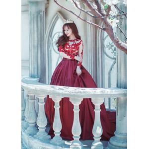 フリー写真, 人物, 女性, アジア人女性, 女性(00204), ベトナム人, ドレス, ティアラ, 王女(プリンセス), 人と風景