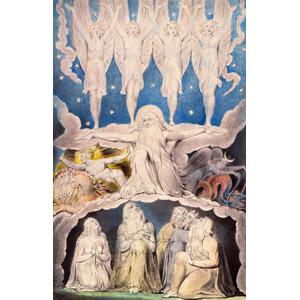 フリー絵画, ウィリアム・ブレイク, 宗教画, 旧約聖書, ヨブ記, 天使(エンジェル), 悪魔(デビル), 終末
