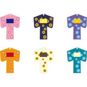 フリーイラスト, ベクター画像, AI, 衣服(衣類), 浴衣, 夏, レディースファッション, 和服