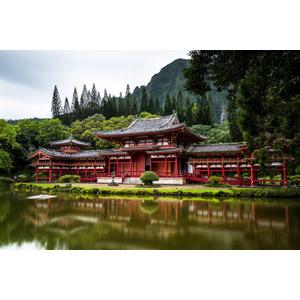 フリー写真, 風景, 建造物, 建築物, 寺院, お寺(仏閣), アメリカの風景, ハワイ州, 平等院テンプル