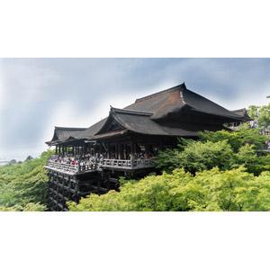 フリー写真, 風景, 建造物, 建築物, 寺院, お寺(仏閣), 清水寺, 日本の風景, 京都府