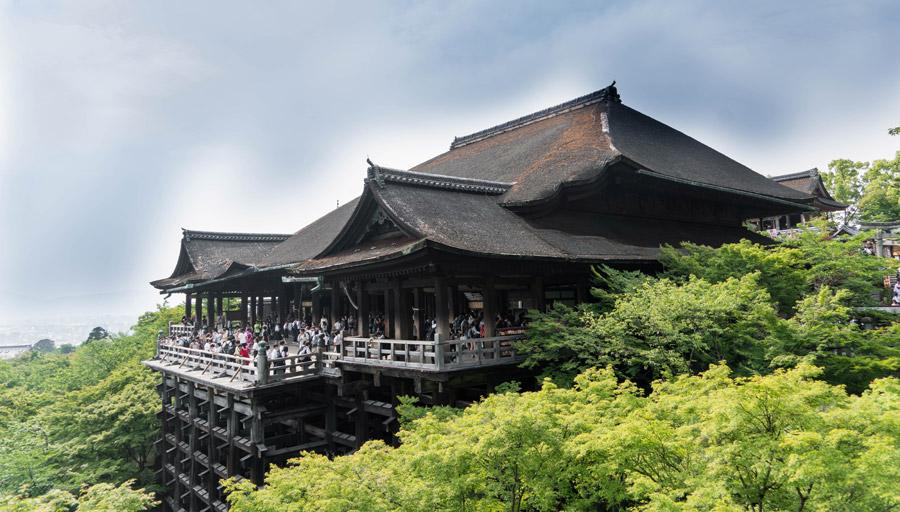 フリー写真 清水寺の舞台の風景
