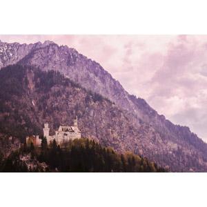 フリー写真, 風景, 建造物, 建築物, 城, ドイツの風景, バイエルン州, 山