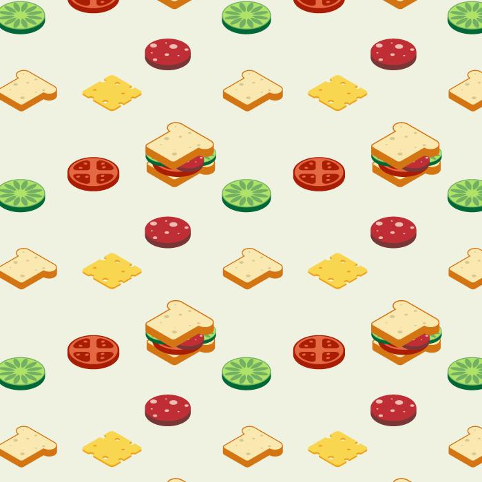 フリーイラスト サンドイッチと中身の背景