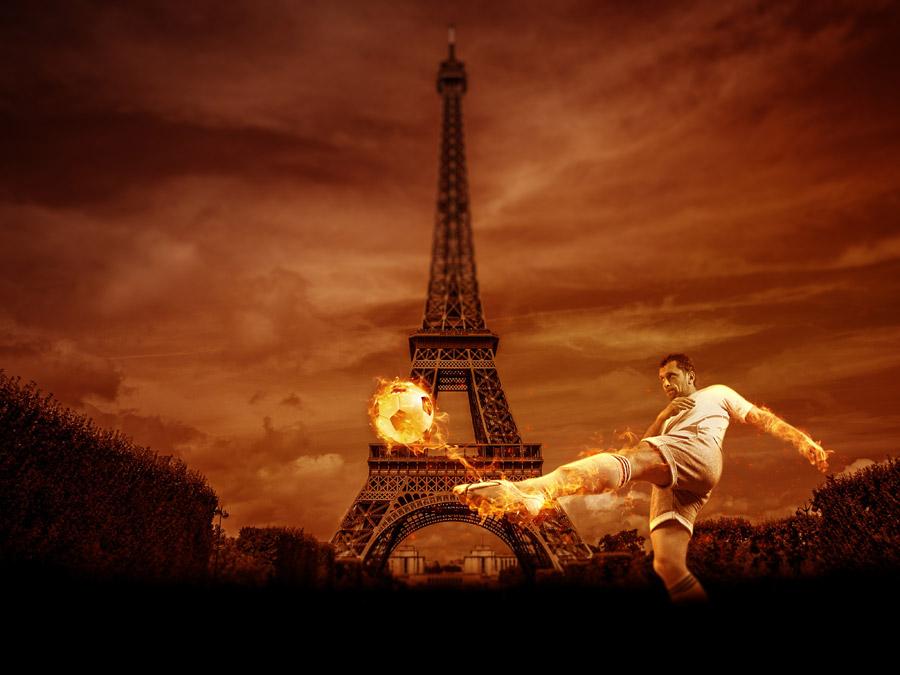 フリー写真 サッカーのUEFAユーロ2016のイメージ背景