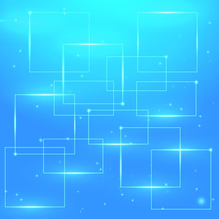 フリーイラスト 青色の枠の背景