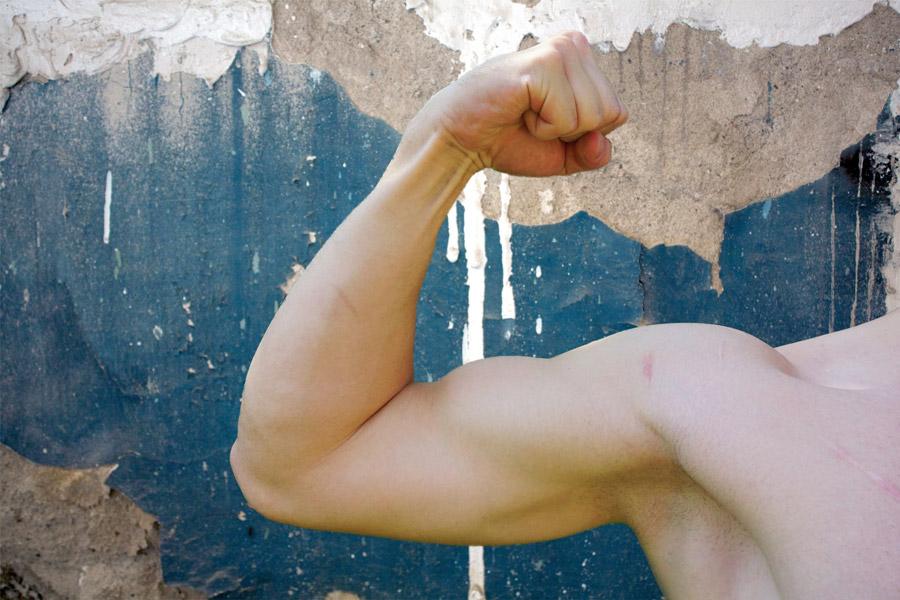 フリー写真 上腕二頭筋